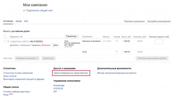 yd1 Надання доступу до рекламного кабінету Яндекс.Директ