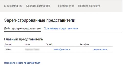 yd2 Надання доступу до рекламного кабінету Яндекс.Директ